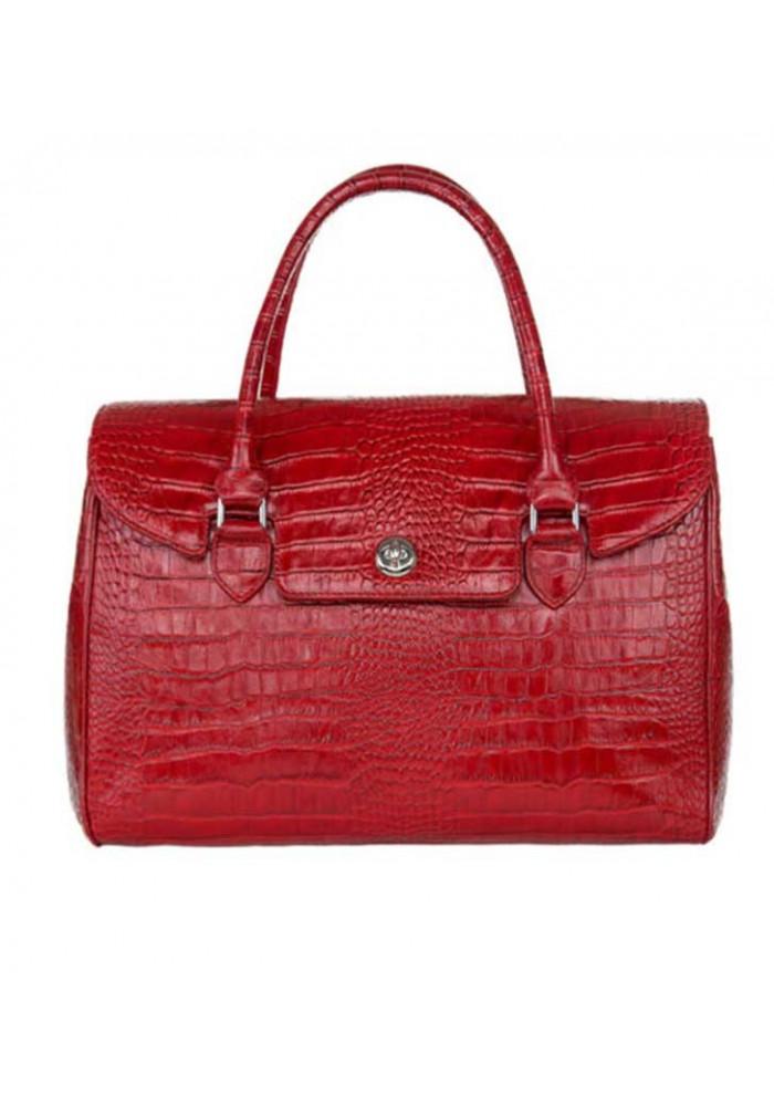 Женская кожаная сумка INSPIRATION ISSA HARA красная