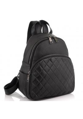 Фото Женский кожаный черный рюкзак Riche NM20-W322A