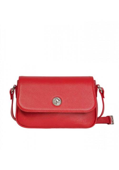 Женская кожаная сумка-клатч INSPIRATION ISSA HARA красная