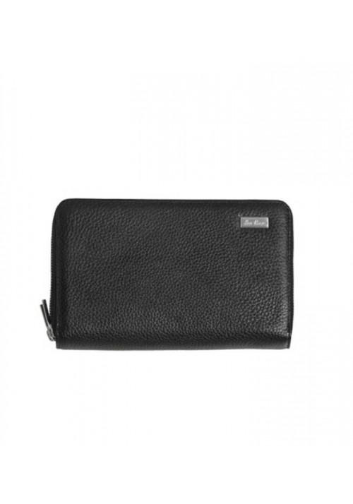 Модный черный кожаный клатч ISSA HARA