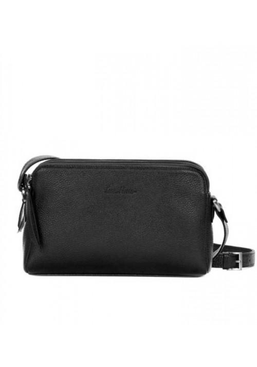 Женская кожаная сумка-клатч ACTIVE ISSA HARA черная