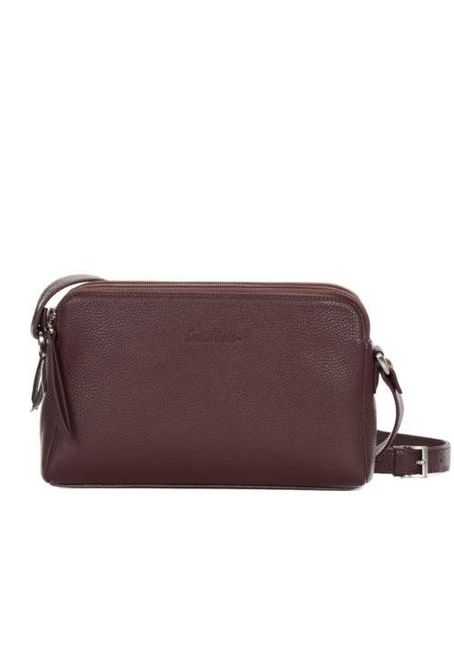 Женская кожаная сумка-клатч ACTIVE ISSA HARA коричневая