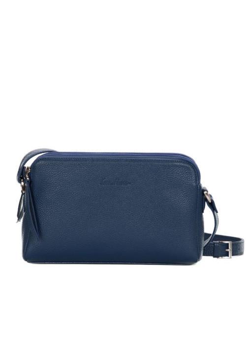 Женская кожаная сумка-клатч ACTIVE ISSA HARA синяя