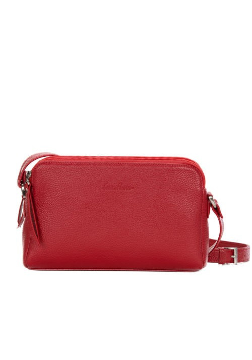 Женская кожаная сумка-клатч ACTIVE ISSA HARA красная