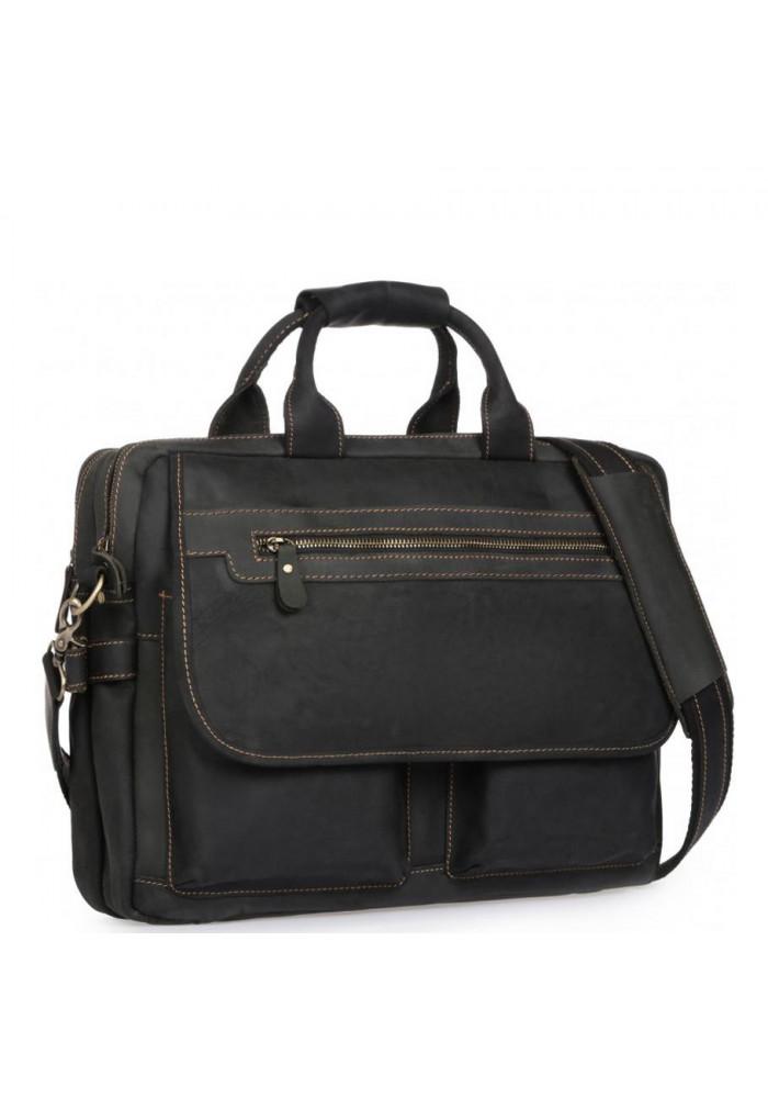 Фото Сумка-портфель мужская кожаная для поездок Tiding Bag t29523A-5