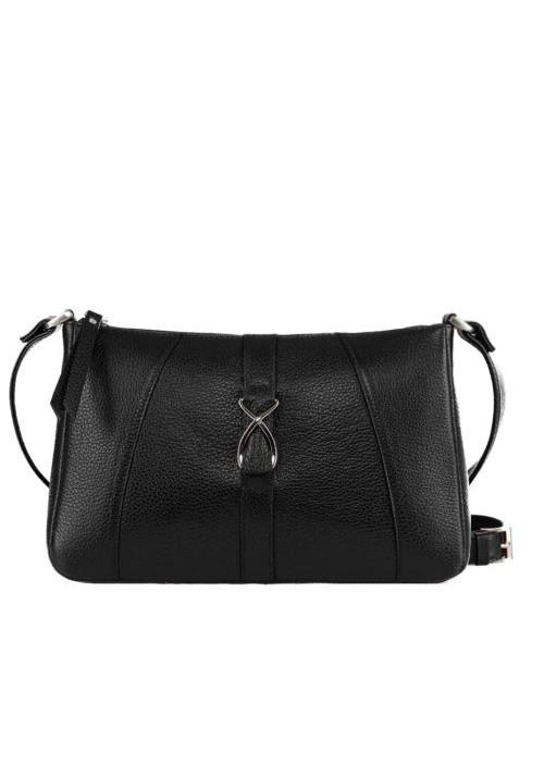 Модная женская кожаная сумка-клатч ACTIVE ISSA HARA черная