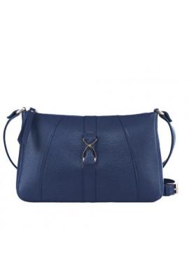 Фото Модная женская кожаная сумка-клатч ACTIVE ISSA HARA синяя