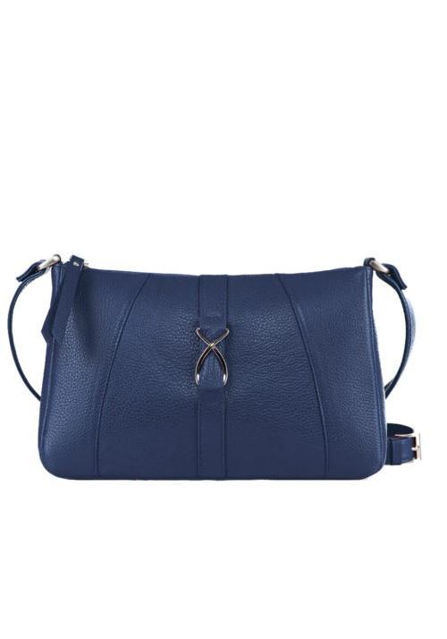Модная женская кожаная сумка-клатч ACTIVE ISSA HARA синяя