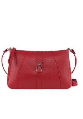 Фото Модная женская кожаная сумка-клатч ACTIVE ISSA HARA красная
