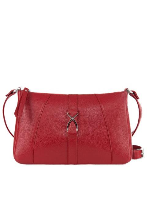 Модная женская кожаная сумка-клатч ACTIVE ISSA HARA красная