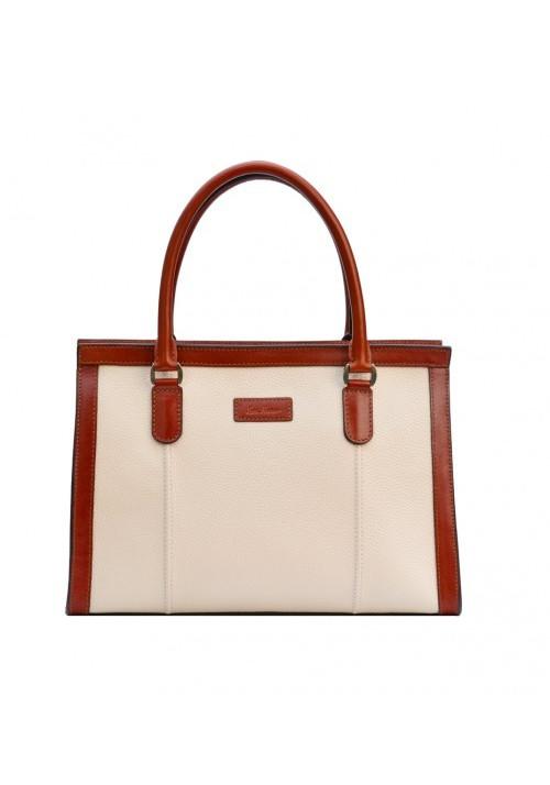 Женская кожаная сумка серии INSPIRATION ISSA HARA бежевая