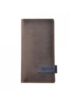 Фото Брендовый клатч кожаный серии GO-AHEAD ISSA HARA коричневый