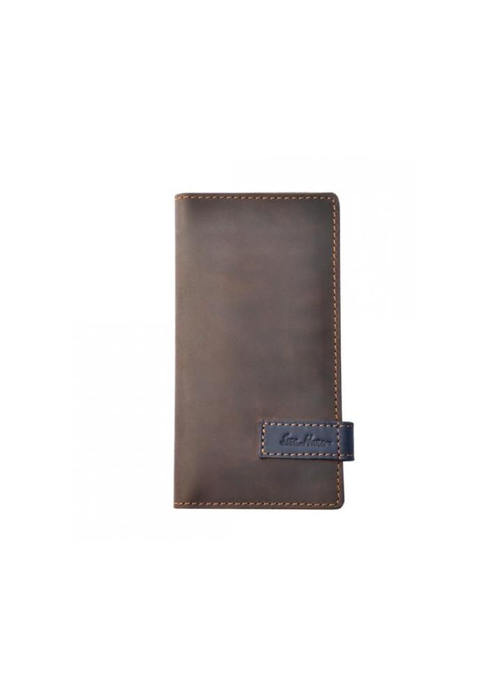 Брендовый клатч кожаный серии GO-AHEAD ISSA HARA коричневый