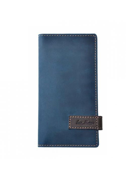 Брендовый клатч кожаный серии GO-AHEAD ISSA HARA синий матовый