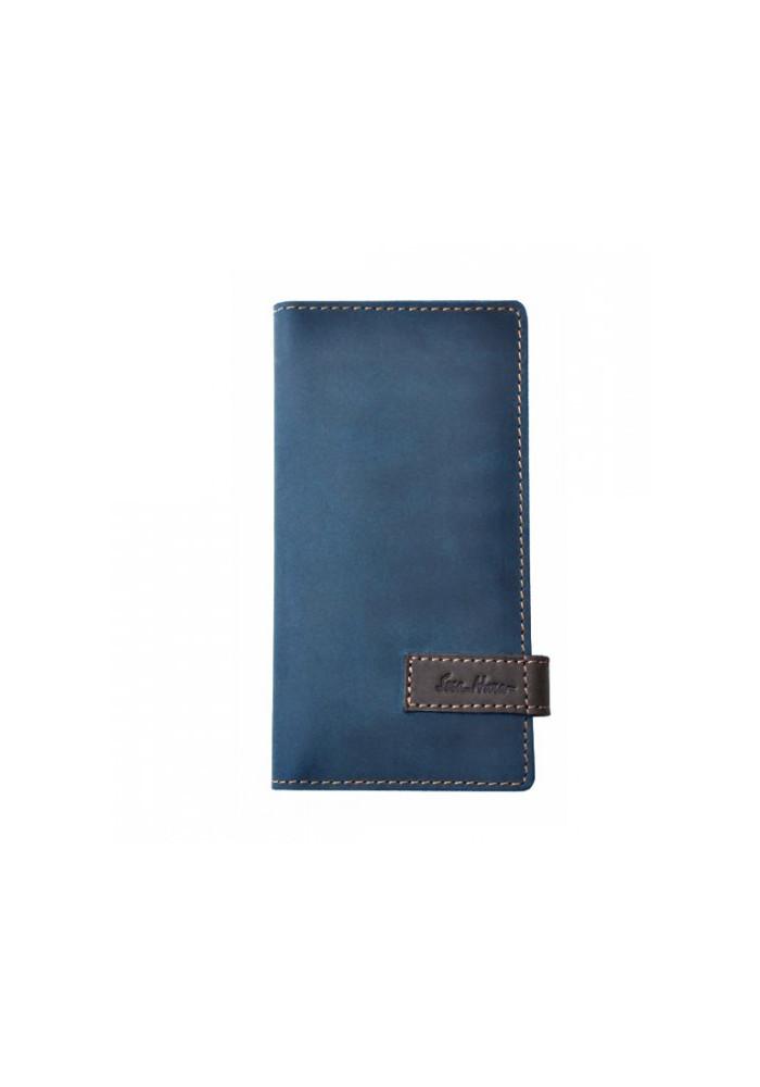 Брендовый клатч кожаный серии GO-AHEAD ISSA HARA синий