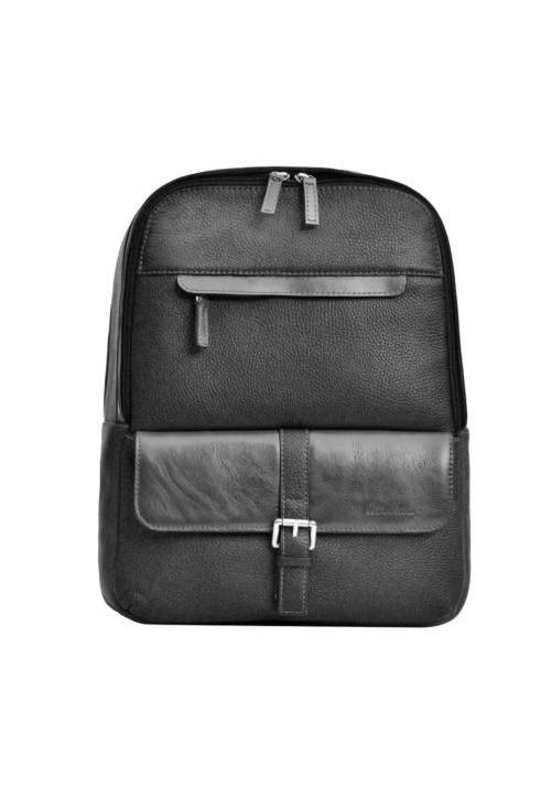 Брендовый рюкзак кожаный ISSA HARA черный