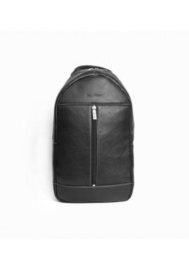 Фото Брендовый рюкзак кожаный через плечо ISSA HARA черный