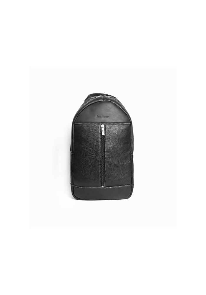 Брендовый рюкзак кожаный через плечо ISSA HARA черный