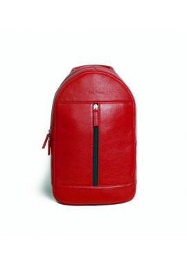 Фото Брендовый рюкзак кожаный через плечо ISSA HARA красный