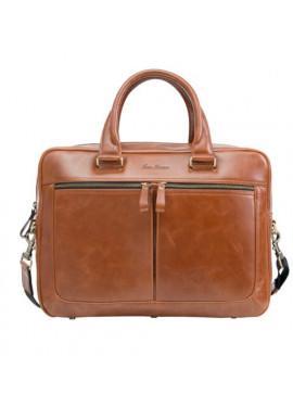 Фото Стильная мужская кожаная сумка ISSA HARA рыжая
