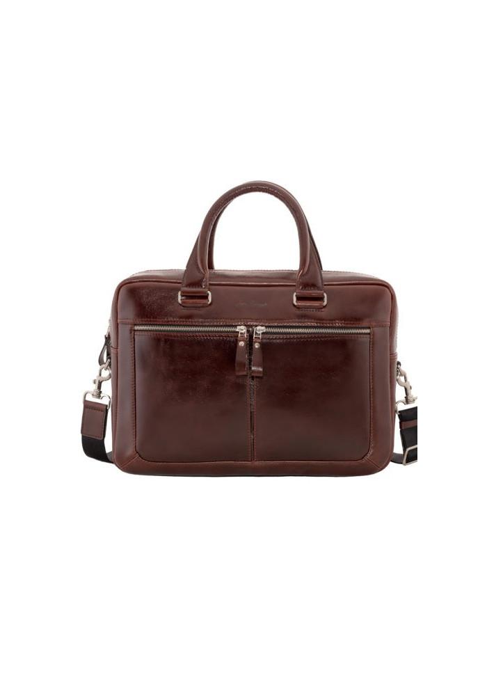 Стильная мужская кожаная сумка ISSA HARA коричневая