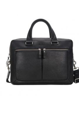Фото Стильная мужская кожаная сумка ISSA HARA черная