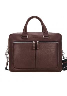 Фото Стильная мужская кожаная сумка ISSA HARA коричневая матовая
