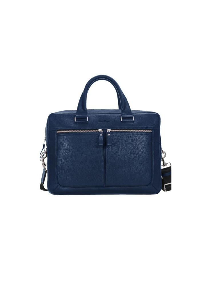 Стильная мужская кожаная сумка ISSA HARA синяя