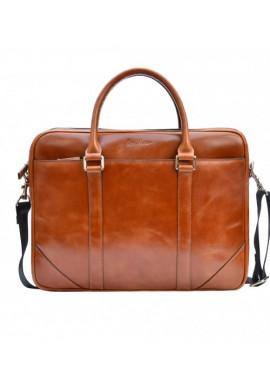 Фото Натуральная кожаная сумка мужская ISSA HARA рыжая