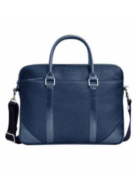 Фото Натуральная кожаная сумка мужская ISSA HARA синяя