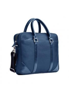 Натуральная кожаная сумка мужская ISSA HARA синяя