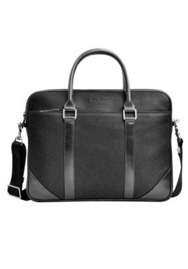 Фото Натуральная кожаная сумка мужская ISSA HARA черная