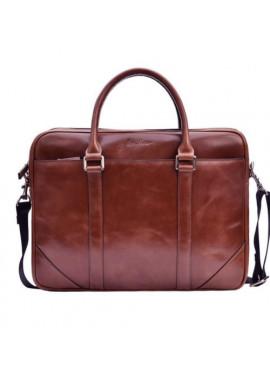 Фото Натуральная кожаная сумка мужская ISSA HARA коричневая