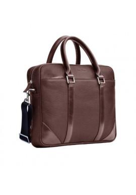 Натуральная кожаная сумка мужская ISSA HARA коричневая матовая
