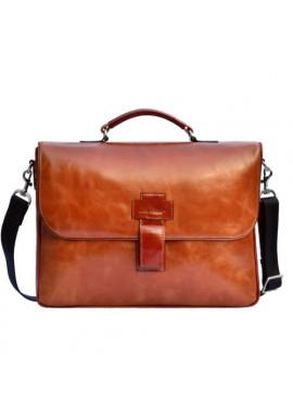 Фирменная мужская сумка ISSA HARA рыжая