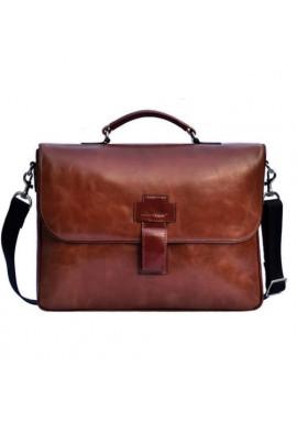Фото Фирменная мужская сумка ISSA HARA коричневая