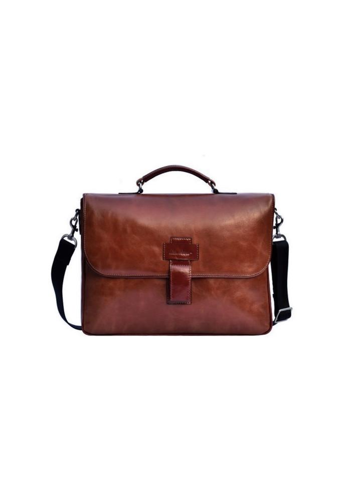 Фирменная мужская сумка ISSA HARA коричневая