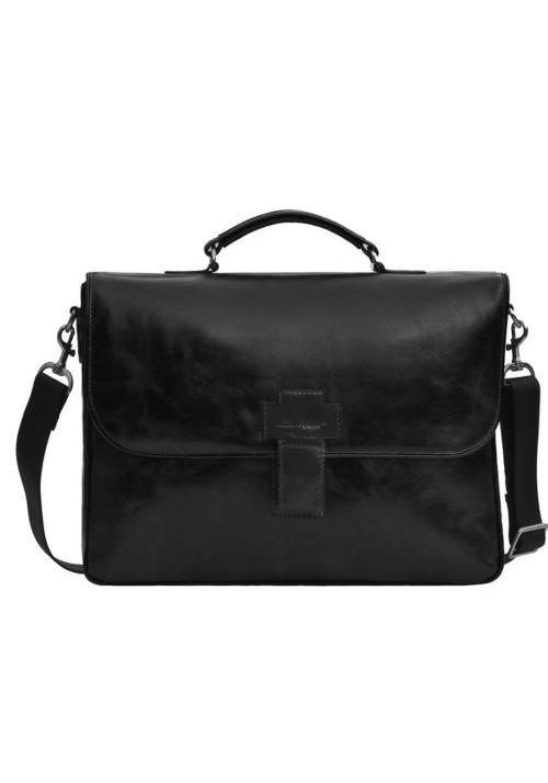 Фирменная мужская сумка ISSA HARA черная