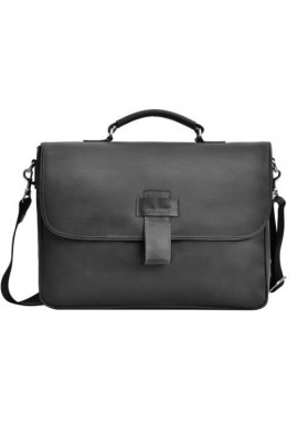 Фото Фирменная мужская сумка ISSA HARA черная матовая