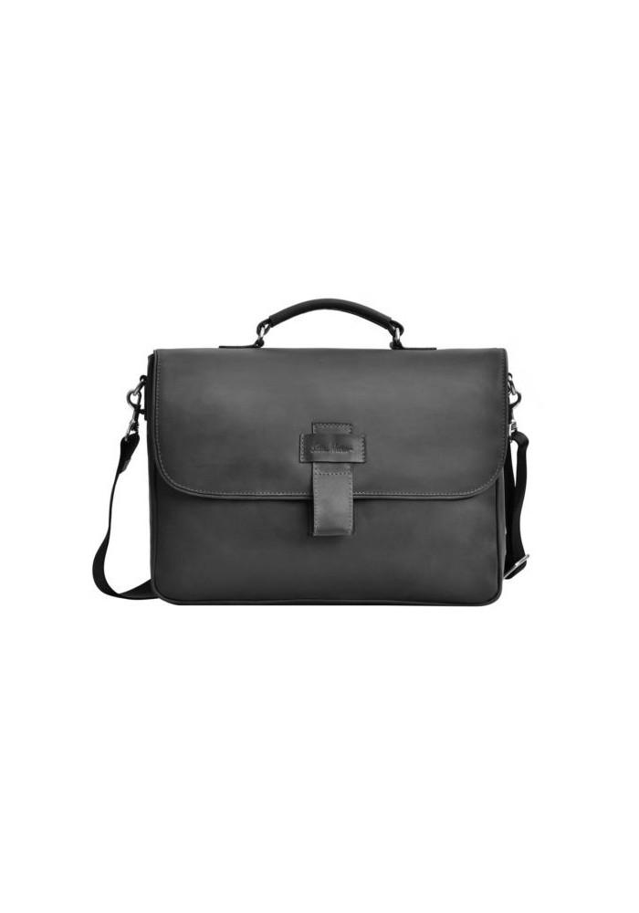 Фирменная мужская сумка ISSA HARA черная матовая
