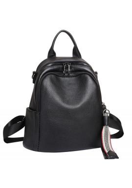 Фото Черный кожаный рюкзак городского формата Olivia Leather NWBP27-8085A-BP
