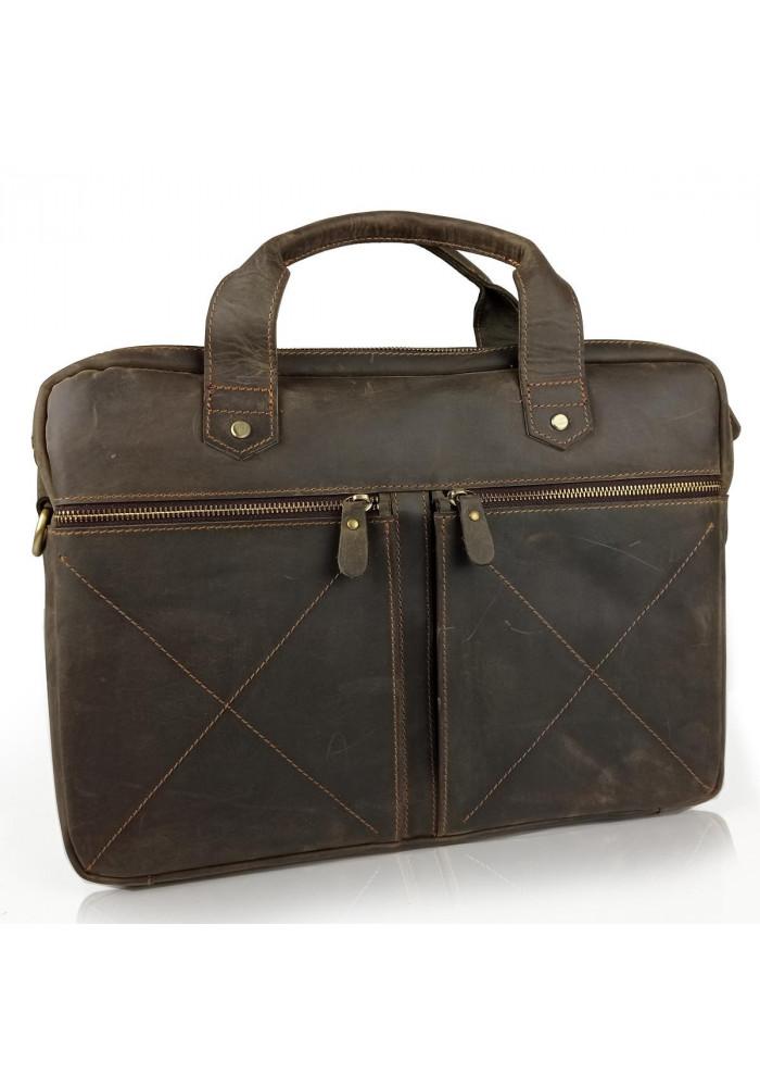 Фото Винтажная сумка для ноутбука коричневая Tiding Bag D4-012R