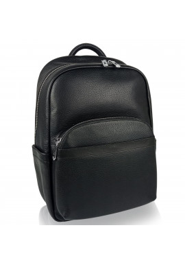 Фото Мужской кожаный рюкзак черного цвета Tiding Bag N2-201218-3A