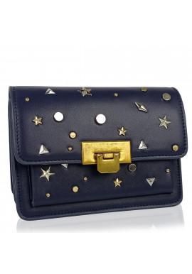 Фото Женская элегантная темно синяя сумка W16-808BL