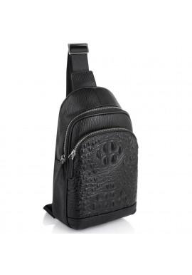 Фото Мужская сумка-слинг через плечо натуральная кожа Tiding Bag SM8-818A
