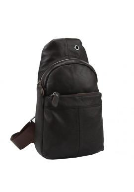 Фото Кожаный коричневый слинг через плечо Tiding Bag A25F-FL-5311B