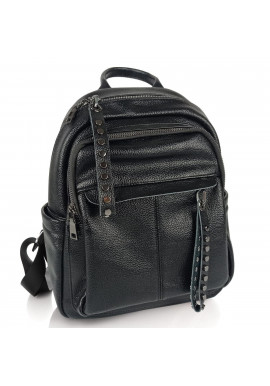 Фото Женский черный кожаный рюкзак городского типа NWBP27-6660A-BP