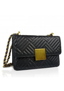 Фото Женская маленькая черная сумка через плечо W16-321A