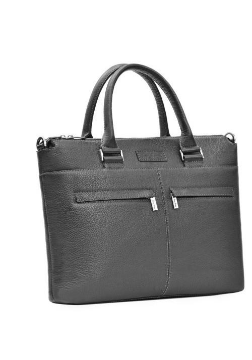 Мужская деловая сумка ISSA HARA черная