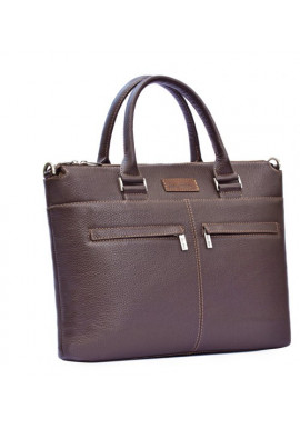 Мужская деловая сумка ISSA HARA коричневая